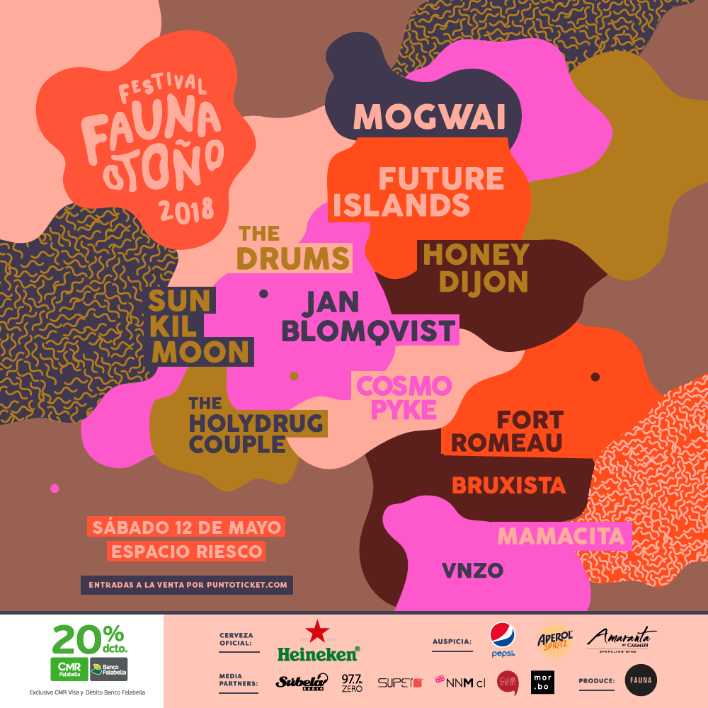 Revelado el lineup completo del #FaunaOtoño: Mogwai, Future Islands, The Drums y más
