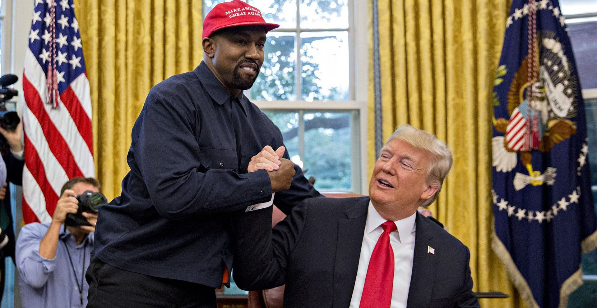 Kanye West y Donald Trump. Fotografía: Getty Images